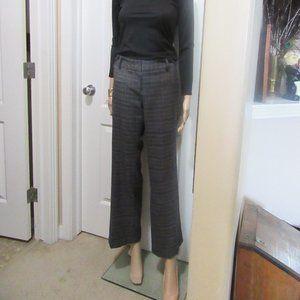 Black/ Grey plaid dress pants size 10 Ricki's